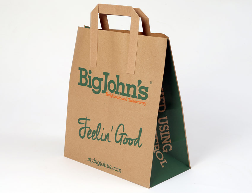 Sav On Bags >> Flat Tape Handle Paper Bags By Sav Eco In Leicester